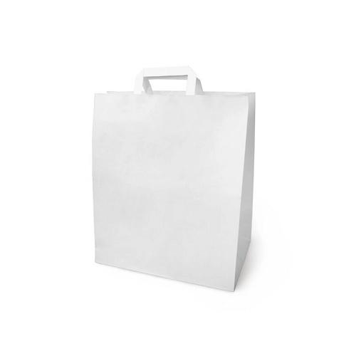 Бумажный крафт пакет с П-ручкой 35х15х45 белый