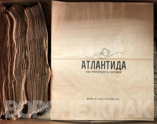 крафт-пакеты-с-логотипом-атлантида-Воронеж